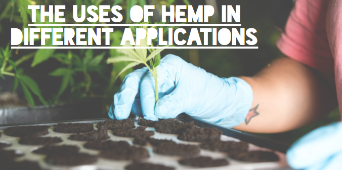 The uses of hemp in different applications